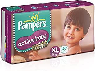 Pampers Active Baby Extra Large (56 count) pack of 2