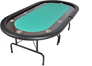 The Oval Ultimate Folding Poker Table - Green
