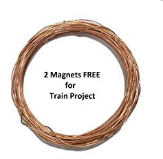 TRIOMAG 20 Meter Bare Copper Wire For Science Projects (Simple Electric Train), Jewelry Making, Craft Purposes