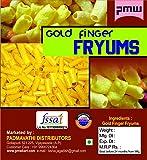 Pmw - Grade A Quality - Gold Finger Snacks - Fryums - Raw - Gottalu - 500 Grams - Free 15 Gram Fryums Masala Powder