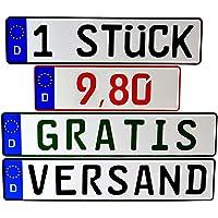 Kennzeichen 1 x KFZ Nummernschild DIN Zertifiziert Verschiedene Größen/Individuelle Prägung - für alle in Deutschland…