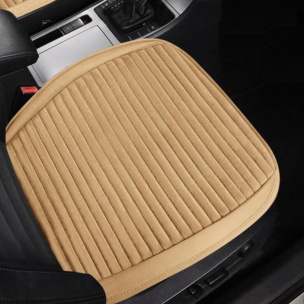 MIAO Fodera per seggiolino auto, inverno antiscivolo no-schienale non fascio caldo peluche monoposto