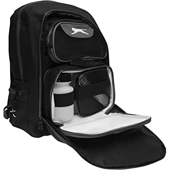 32db0336a03 Slazenger Back Pack Inc L Box Travel Luggage Everyday Casual Bag  Accessories Black/Charcoal One Size