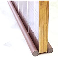 Aeternum PVC Made Door Closer Bottom Sealing Strip for Energy Saving, Noise Cancellation and Cooling Saver (Brown)