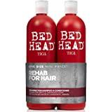 Bed Head by Tigi Urban Antidotes Resurrection, shampooing et après-shampooing pour cheveux abîmés, lot de 2 x 750 ml