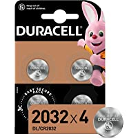 Duracell Specialty 2032 Lithium Coin Battery 3 V, Pack of 4, with Baby Secure Technology (CR2032)