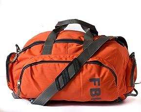 Fbi 1098Cms Softsided Polyester Orange Gym Duffle Bag