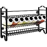 GoMaihe rangement epices autonome à 3 niveaux, etagere a epices en acier inoxydable, range epices cuisine, porte epices pots