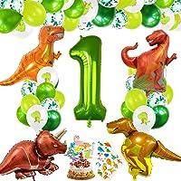 Decorazioni Compleanno Dinosauri, Palloncino Numero 1,Decorazioni Compleanno 1 Anno, Festa Tema Dinosauri, Compleanno…