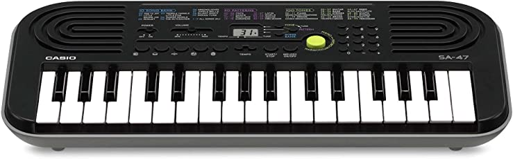 Casio SA-47A Electronic Keyboard, Black