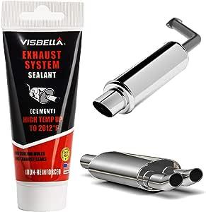 Visbella Auspuffanlagen Rohrreparatursatz Hochtemperatur Zement Rissversiegelung Endrohr Schalldämpfer Reparaturklebstoff Auto