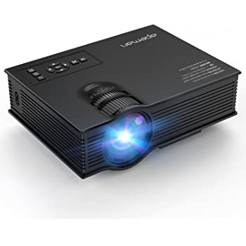 APEMAN LED Proiettore Multimediale Mini Portatile Videoproiettore 1200 Lumen LCD Cinema Domestico Giochi Video e Progetto Sopporta 1080P HD Video e Ingresso da IR USB SD HDMI (Nero)