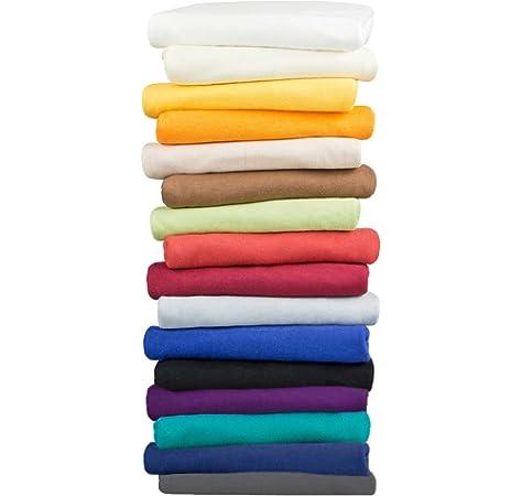 Moon 2er Pack Seitenschl/äferkissen Bezug Jersey 100/% Baumwolle Kissenbezug Stillkissen 2er Pack 40x145, dunkelblau