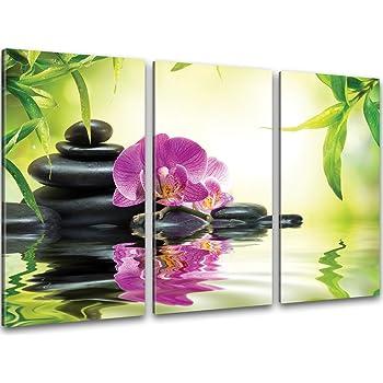 Zen orchidee bambus bilder auf leinwand - Leinwand amazon ...