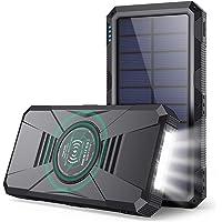 HETP Power Bank 30800mAh - PD25W Wireless Power Bank QC 4.0 Fast Charging Solar Powerbank [4-Ausgang 3-Eingang Typ-C…