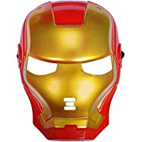 Partytoko Superhero Iron Man mask for Kids & Adults Costume Cosplay Party Gift Dress (red) and thonas mask