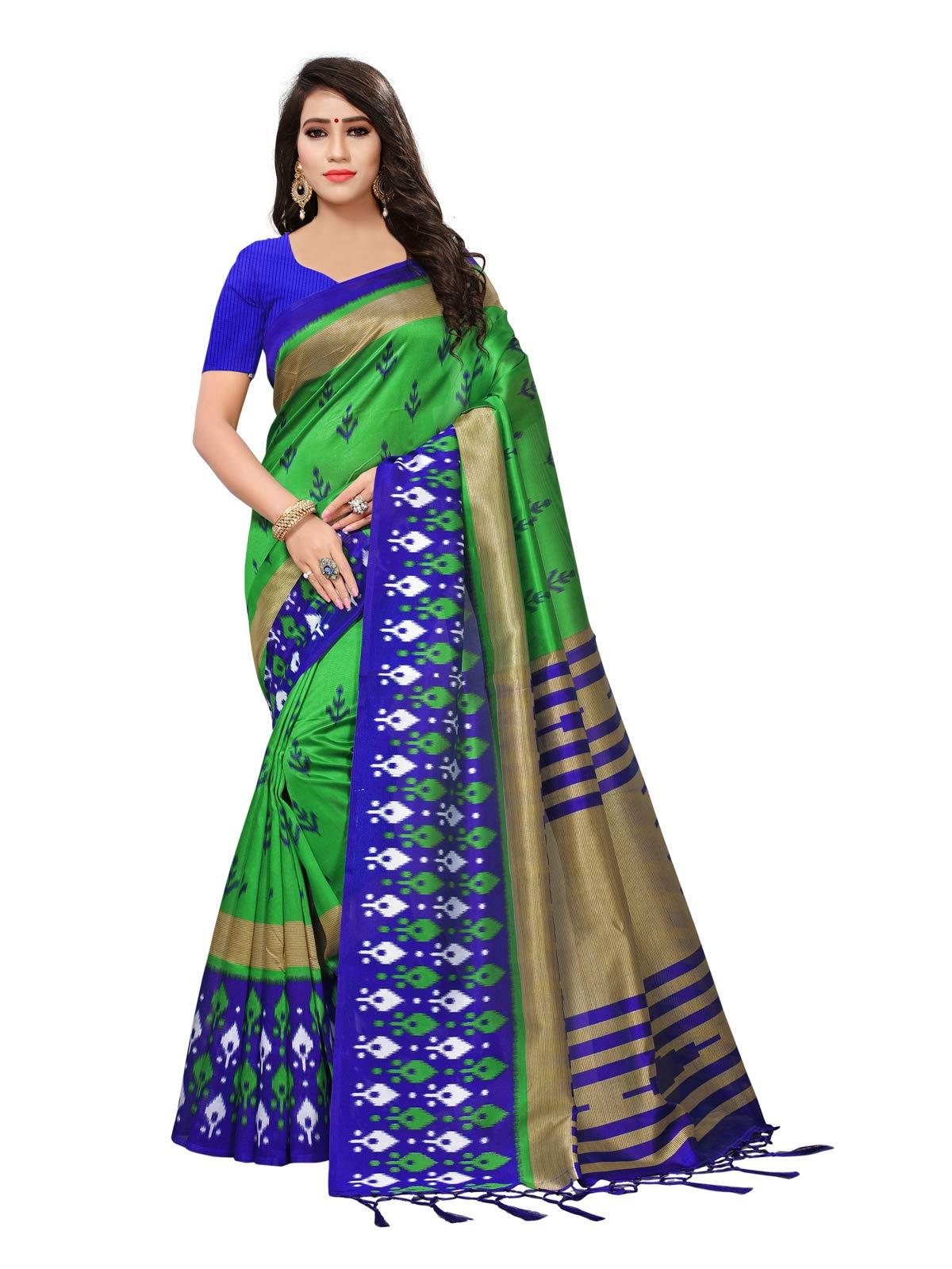 Kanchnar Women's Poly Silk Printed Saree
