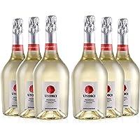 SAN MARTINO VINI Undici Prosecco DOC Extra Dry, 6 Bottiglie di Vino Spumante x 750 ml, Gusto Fresco, Adatto a Piatti di…