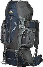 Hwjianfeng Damen Herren Trekkingrucksäcke Wanderrucksäcke für Outdoor Reise und Sport 80L+5L Wasserdicht