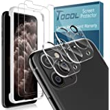 TOCOL 4 Stück Panzerglas Schutzfolie Kompatibel mit iPhone 11 Pro 2 Stück und 2 Stück Kamera Panzerglas HD Displayschutzfolie