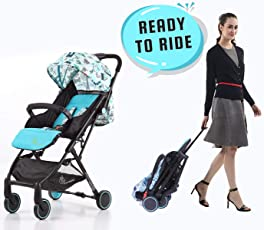 R for Rabbit Pocket Stroller Lite - The Most Portable Baby Stroller and Pram for Baby/Kids with No Installation (Blue)