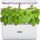 iDoo Sistema de Cultivo Hidropónico, Kit de Inicio de Jardín de Hierbas para Interiores con luz de Crecimiento LED, Maceta de