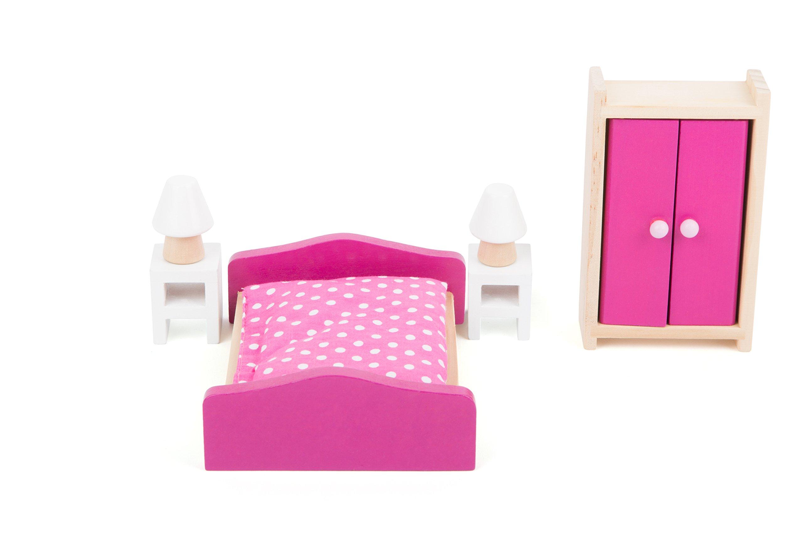 Mobili Per Bambole In Legno : Miniature mobili per casa delle bambole in legno
