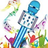Microfono Karaoke Bluetooth, Buty 4 in 1 Wireless Bambini Karaoke, Portatile Karaoke Microfono con Altoparlante per…