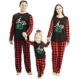 OhhGo. Conjunto de pijama navideño para la familia, ropa de dormir a juego para la familia, ropa de noche de Navidad, pantalo