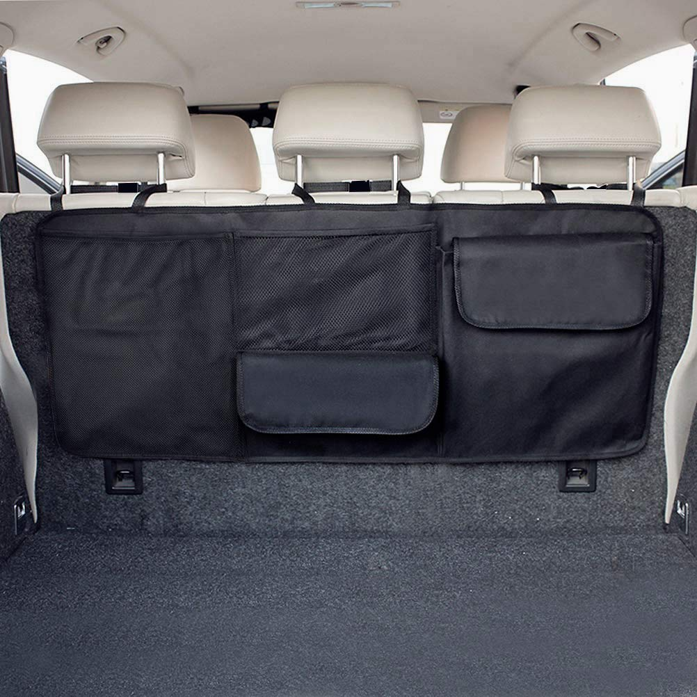 Adjustable Length with Various Pockets Oxford 600D Black Foldable BCAuto Rear Seat Organizer