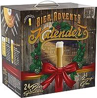 Kalea Bier-Adventskalender 2019 | 24 Deutsche Bier-Spezialitäten und 1 Verkostungsglas | 24 x 0.33 l Flaschen |...