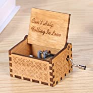 Powlance Wooden Music Box Can't Help Falling in Love Instrument