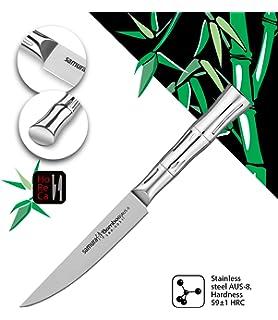 Design maestoso ed elegante Rimane affilato per molti anni! Coltello per bistecche MO-V Samura realizzato in acciaio inossidabile giapponese di qualit/à premium