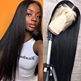 Hermosa 9A Lace Front Human Hair Wigs Pre Plucked with Baby Hair 150% Density Straight Human Hair Lace Front Wigs for Black W