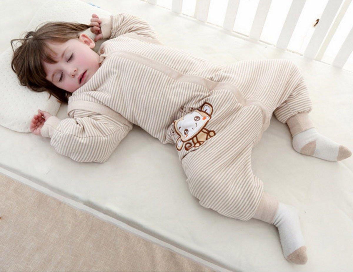 Happy cherry Saco de Dormir con Piernas Mangas Separables Bolsa de Dormir Algodón para Bebé 0-4 Años Primavera Otoño…