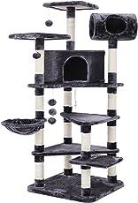 SONGMICS XXL Kratzbaum Stabiler Kletterbaum mit Mehreren Ebenen für Katzen, Höhe 165 cm