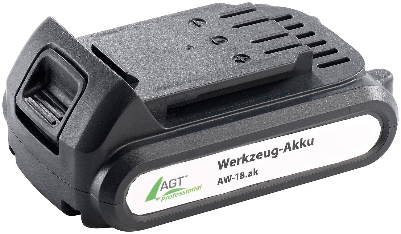 AGT Professional Akku Bohrschrauber: Akkuschrauber AW-18.as, mit Li-Ion-Akku und Ladegerät (Lithium Ionen Akkuschrauber)
