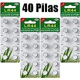 Paquete 40 Batería de botón de batería alcalina Celular LR44 AG13 Paquete de 40 baterías