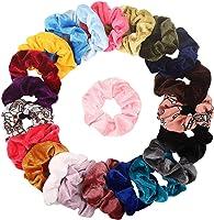Elastici per capelli in velluto, 20 pezzi, elastici per capelli per donne o ragazze, accessori per capelli, 20 colori...