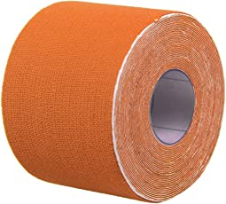 Healifty Therapy Tape Self Adhesive Support Tape Physio Therapeutic Aid for Knees Shoulders Muscle Support 500 x 2.5cm (Orange)