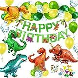 O-Kinee Decorazioni Compleanno Dinosauri,Compleanno Party Ragazzo,Festa Compleanno Dinosauri,Palloncini Dinosauro Compleanno,