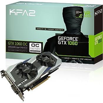 KFA2 GeForce® GTX 1060 OC 6GB GeForce GTX 1060 6GB GDDR5 - Tarjeta gráfica (GeForce GTX 1060, 6 GB, GDDR5, 192 bit, 7680 x 4320 Pixeles, PCI Express 3.0)