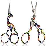 BIHRTC Pack of 2 Small Embroidery Scissors 4.5 Inch Bird Scissors Scissors Sewing Scissors Stainless Steel Sharp Scissors She