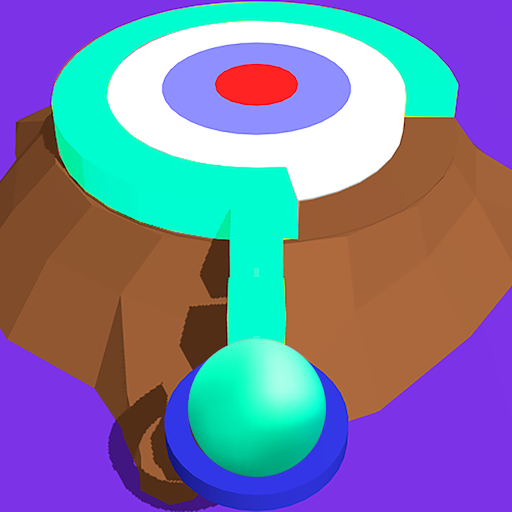 Twisty Stack Hit 3D - paint color circle