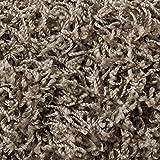 Teppichboden Auslegware | Hochflor Langflor | 400 und 500 cm Breite | grau beige | Meterware, verschiedene Größen | Größe: 5,5 x 5 m