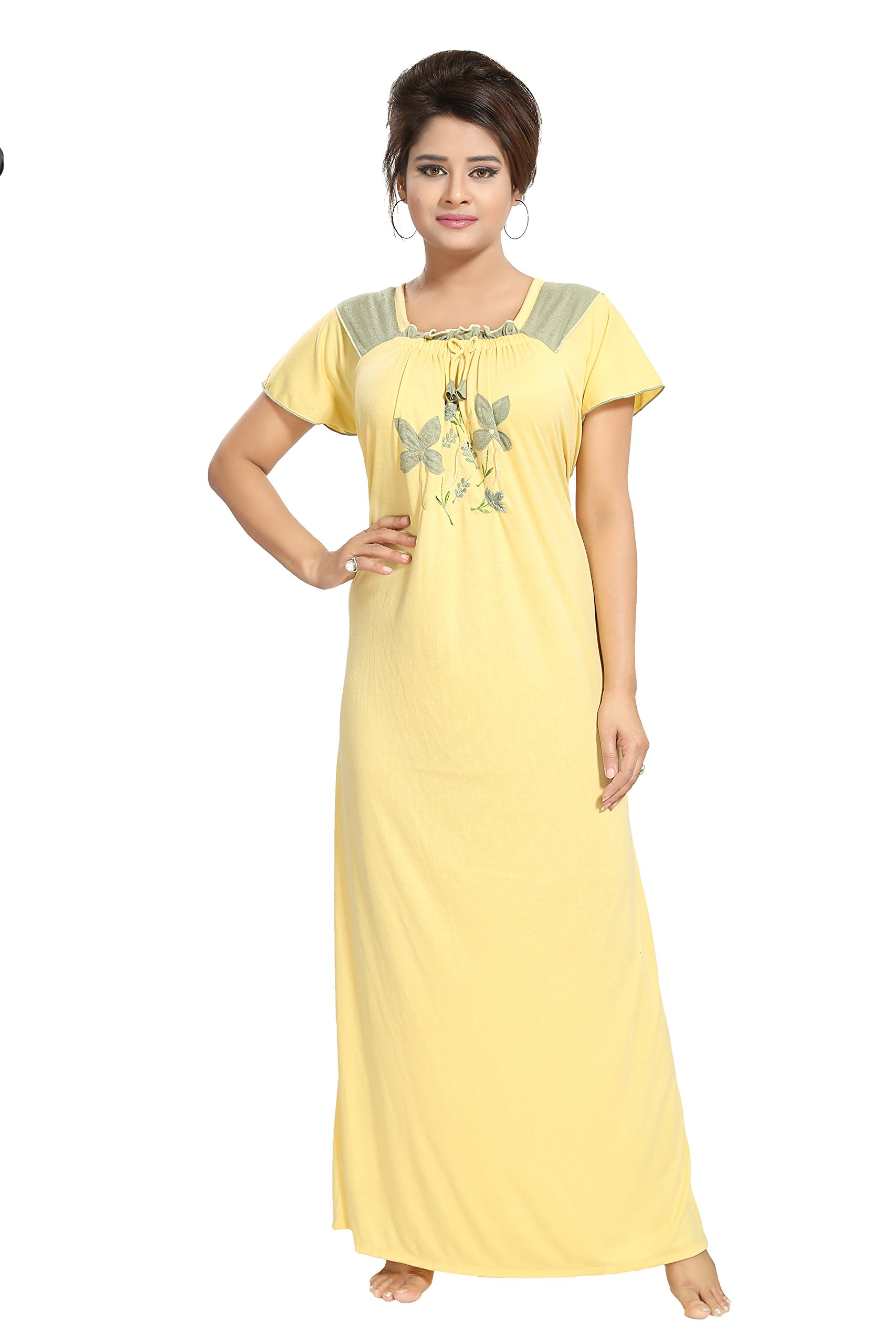 beautiful style hot-selling professional best sale Noty - Women's/Girls Hosiery Cotton Nighty/Night Dress/Night Gown - YeLeJao  Discount offers and Shopping Deals