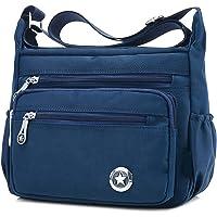 Lässige Umhängetasche für Damen, wasserdicht, aus Nylon, Messenger-Tasche