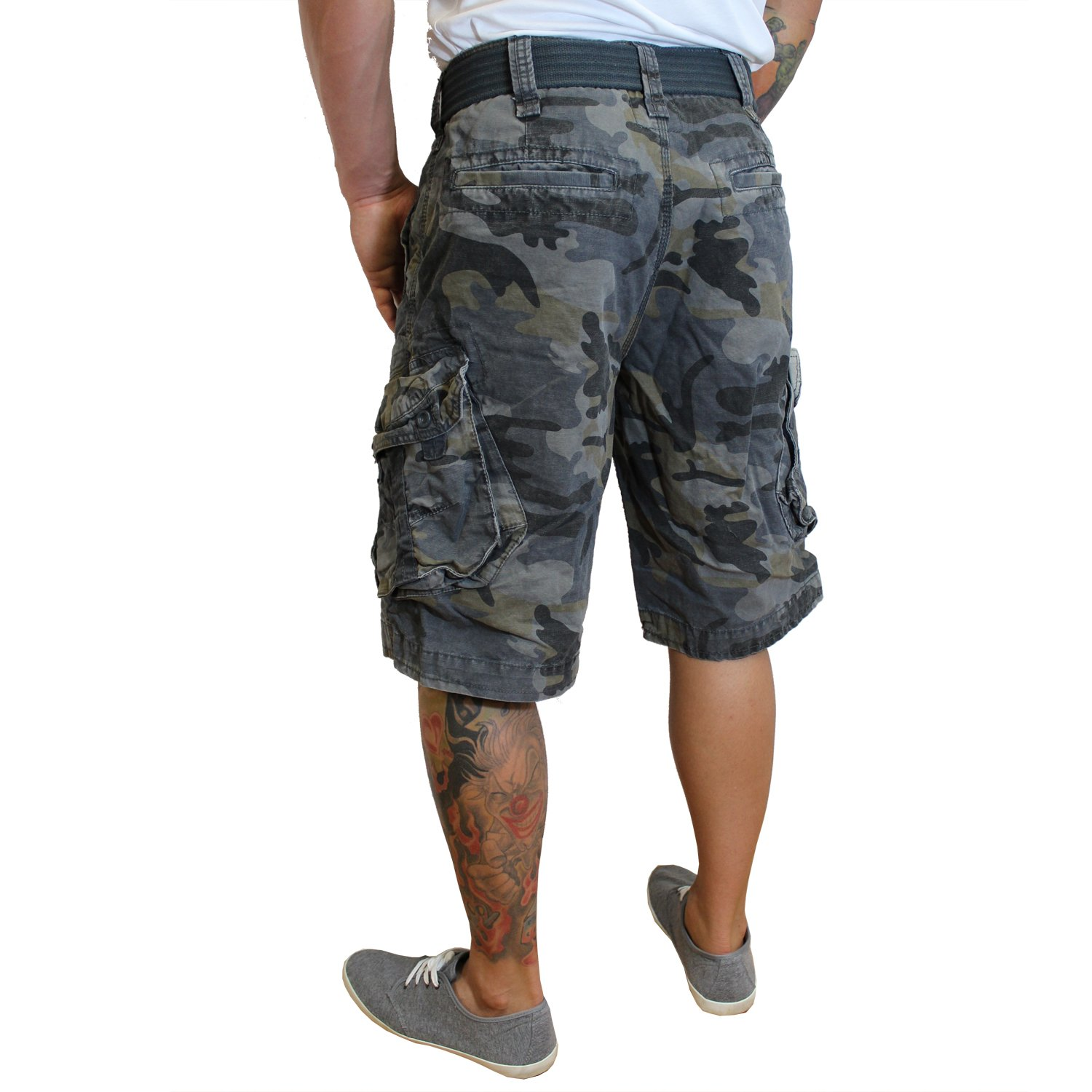 Jet Lag Jet Lag Shorts Take off 3 kurze Hose in charcoal cement schwarz  olive camouflage Shorts: Amazon.de: Bekleidung