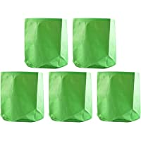 """YUVAGREEN Terrace Gardening Leafy Vegetable Green Grow Bag (15"""" X 15"""") - (Pack of 5)"""