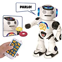 Lexibook Powerman- Robot Educativo e Interattivo, Colore Bianco Nero, ROB50IT